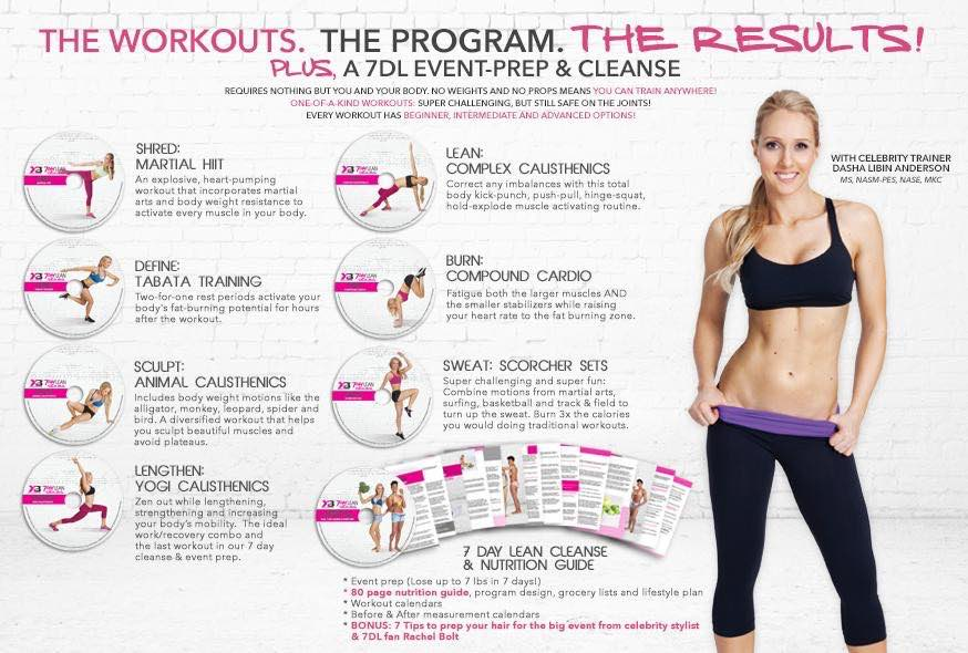 7 day lean fitness program guide